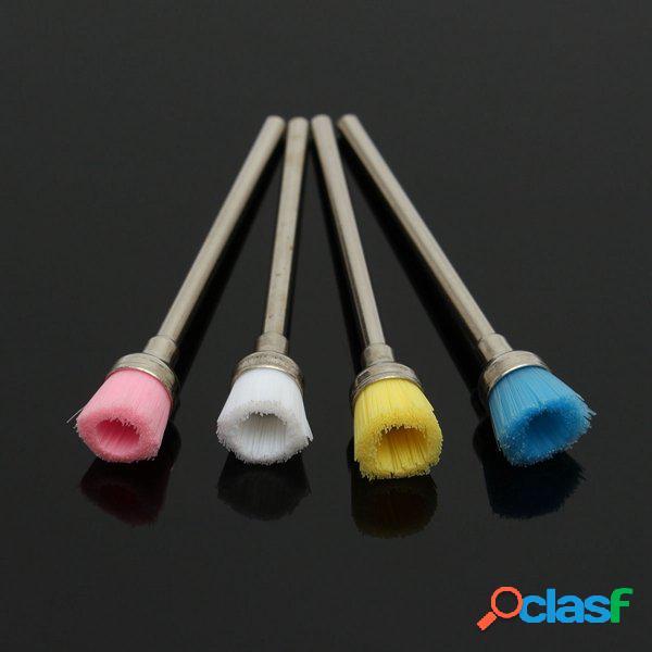4pcs chiodo elettrico kit pennello pulito po ' di file