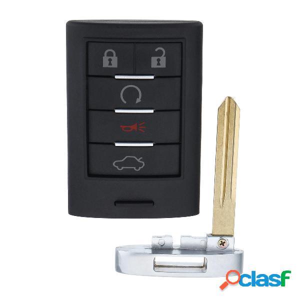 5 Pulsante remoto Portachiavi Key Fob Keyless Entry con lama