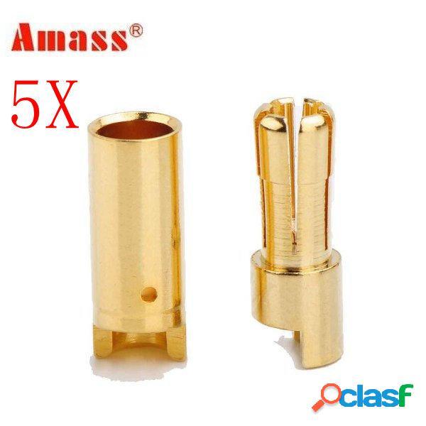 5 X accumulare 5.5 millimetri di rame placcato in oro Banana