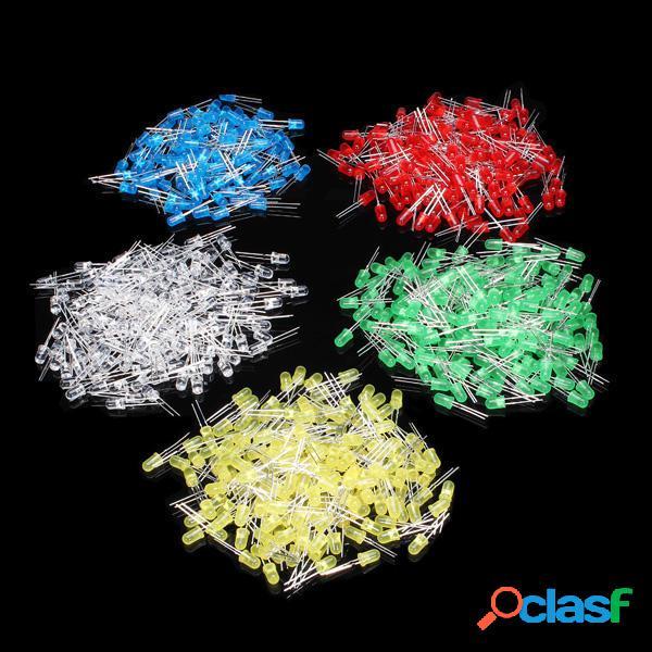 500Pz 5mm LED Kit Diodi di Colore Misto Rosso Verde Giallo