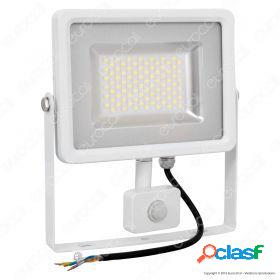 50W LED SMD Floodlight Sensor White Body 6000K