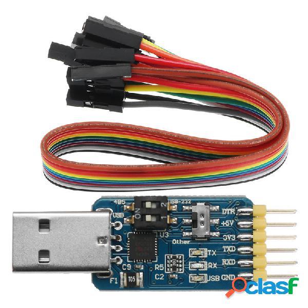 5Pcs 6 In 1 CP2102 Convertitore da USB a TTL 485 232 3.3 V /