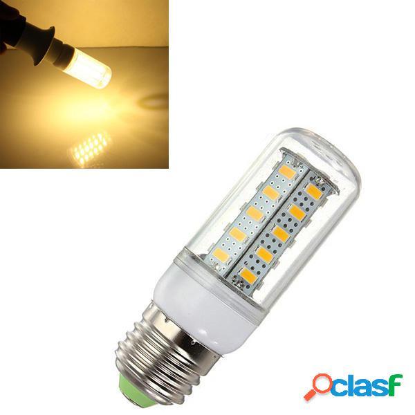 5X e27 LED lampadina 7w bianco caldo 36 smd 5730 ac luce