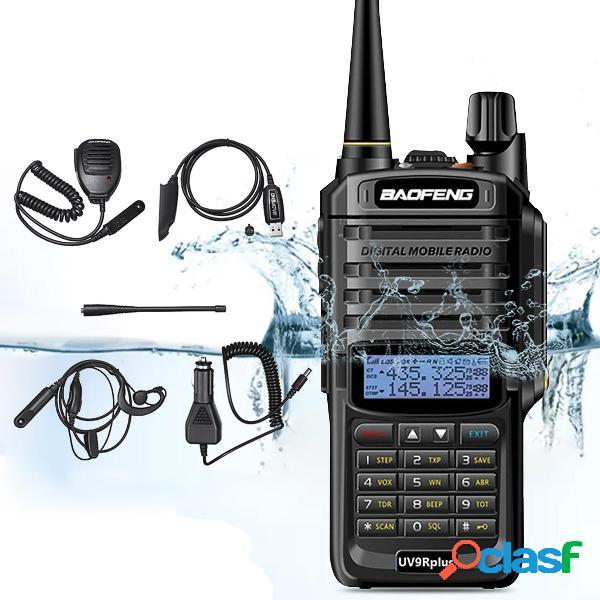 6 in 1 BAOFENG UV-9R Plus 10W VHF UHF Walkie Talkie Dual