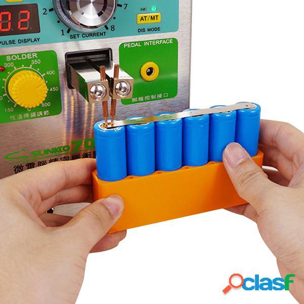 8 Sezione 18650 Batteria Supporto pacco pinza saldatore a
