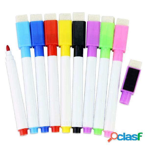 8 pezzi Colorful Penna per lavagna aula per scuola nera con