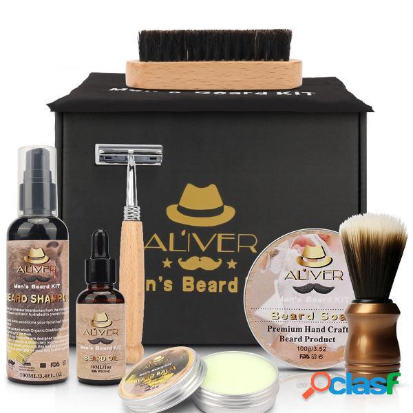 9 in 1 Kit per lo styling della barba per uomo Barba Cape