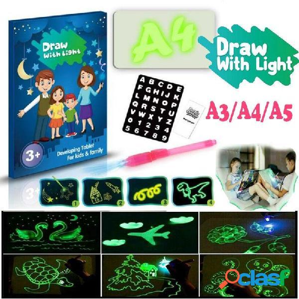 A3 A4 A5 Dimensione 3D Tavolo da disegno fluorescente per