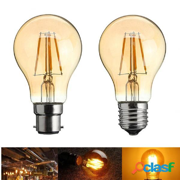 A60 E27 / B22 4W LED Retro filamento incandescente lampadina