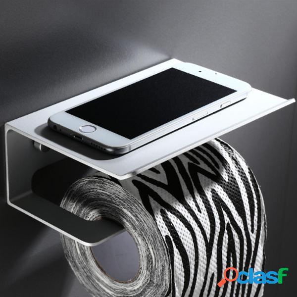Accessorio per il bagno con supporto per mensola in carta