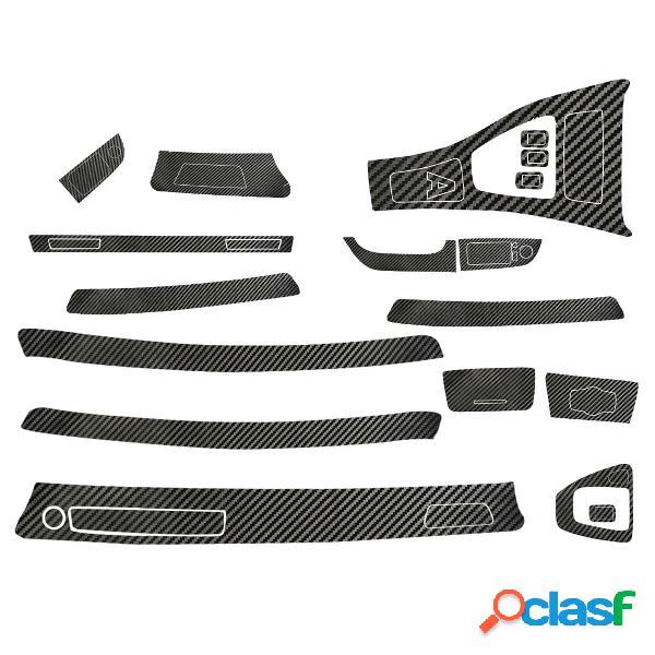 Adesivi in vinile per interni auto in fibra di carbonio 5D