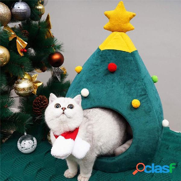 Albero di Natale Lettiera per gatti Cuccia per animali