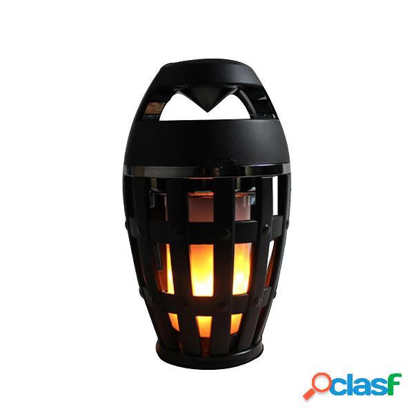 Altoparlante bluetooth senza fili LED Flame Light Night