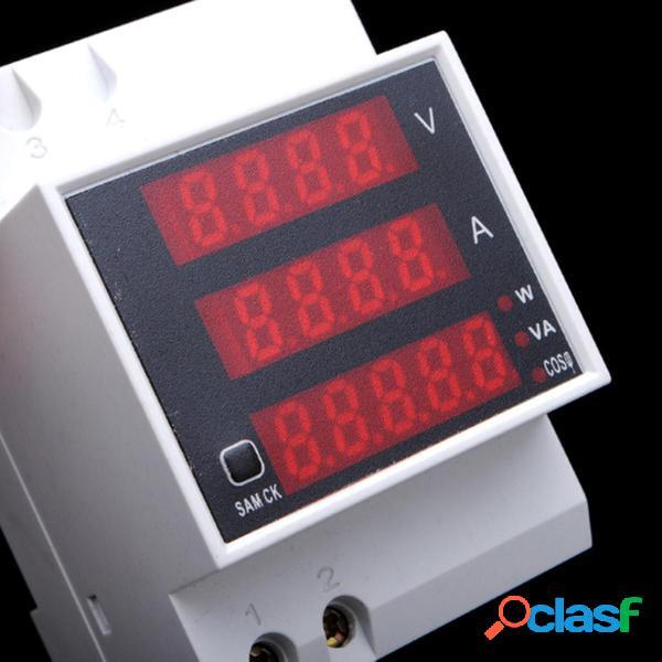 Amperometro Din Volt Meterr Din Rail LED Misuratore digitale