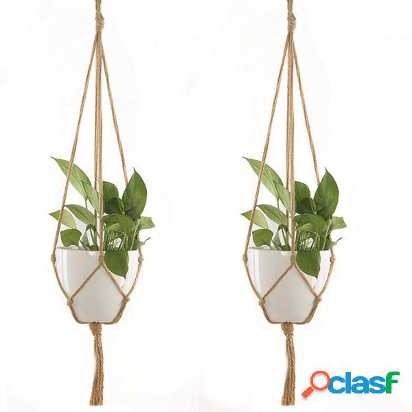 Appendiabiti per macrame da 2 pezzi per piante e fiori per