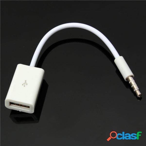 Auto mp3 aux maschio di 3.5mm audio spina USB cavo