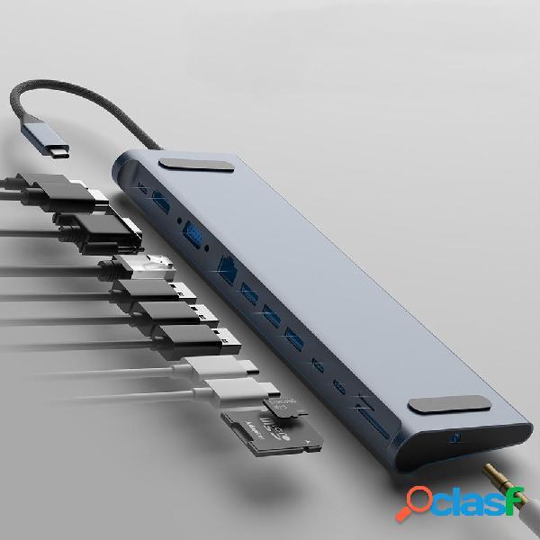 Bakeey Adattatore hub USB-C Type-C 12-in-1 con 3 * porte USB