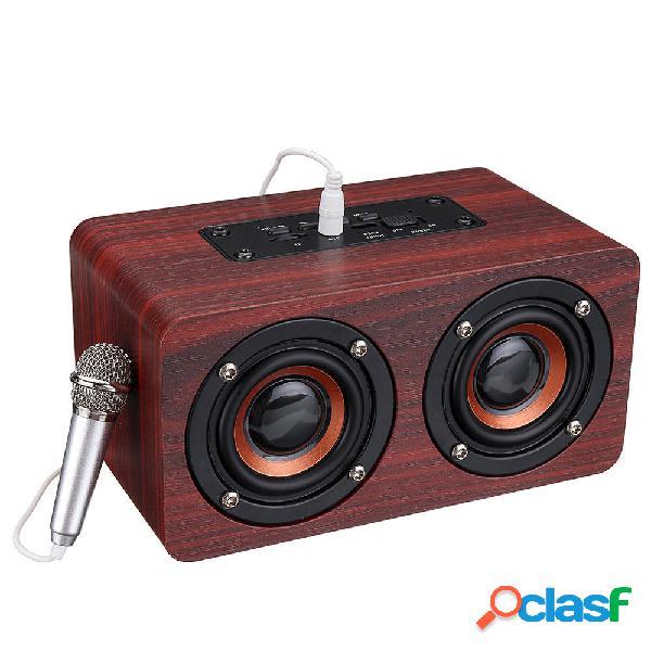 Bassi stereo in legno Bluetooth 4.2 Altoparlante Audio Music
