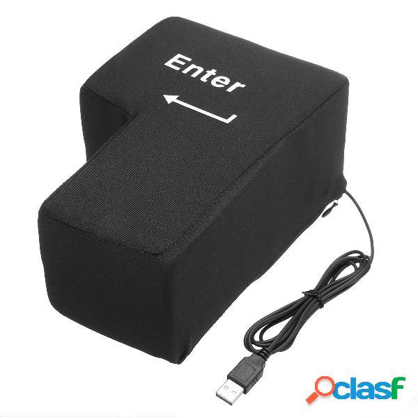 Big USB Enter Key Anti Pulsante di stress Cuscino USB