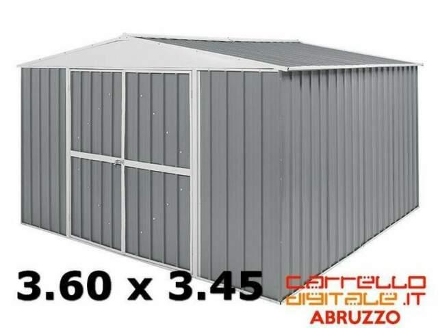 Box casetta cantiere container garage acciaio zincata auto