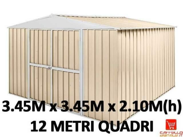Box casetta capanno container acciaio lamiera zincata