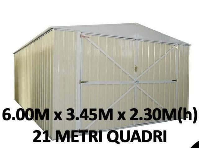 Box casetta garage capanno acciaio lamiera zincata giardino