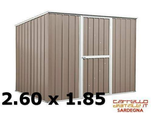 Box lamiera zincata legno container attrezzi casetta acciaio