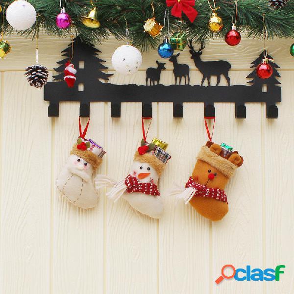 Caramella di Natale Borsa Regalo di calzino di Babbo Natale