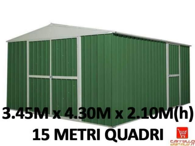 Casetta acciaio box lamiera zincata baracca rimessa capanno