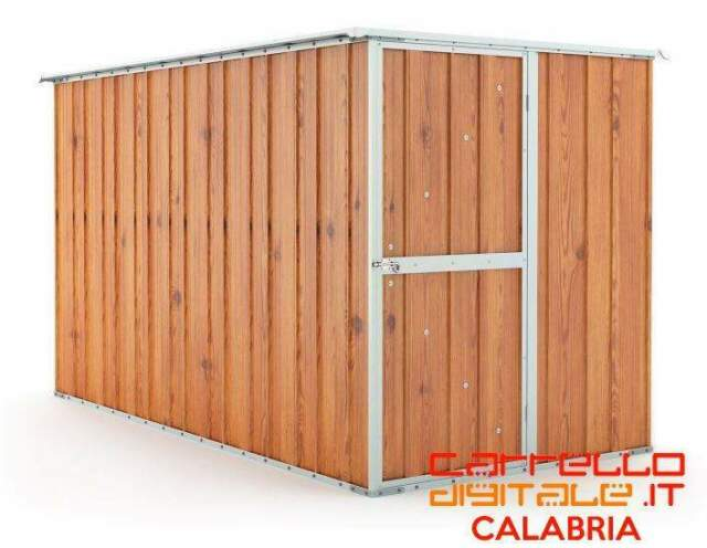 Casetta acciaio box lamiera zincata legno container attrezzi