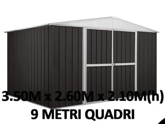 Casetta box garage acciaio lamiera zincata cantiere