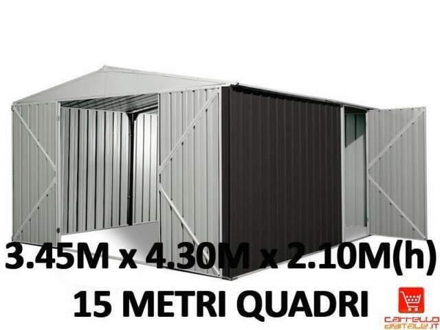 Casetta box garage acciaio lamiera zincata cantiere deposito
