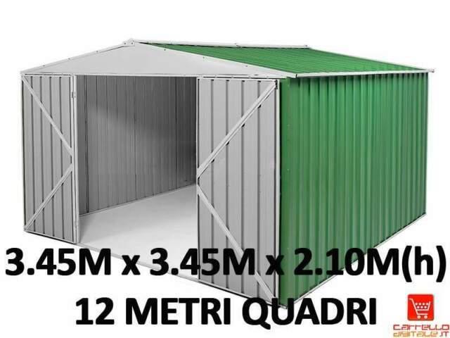 Casetta box garage acciaio lamiera zincata prefabbricato