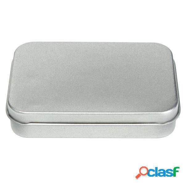 Caso di metallo latta flip storage box organizzatore per
