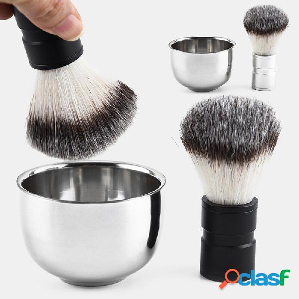 Ciotola da barba in acciaio inossidabile Barbiere Rasoio da