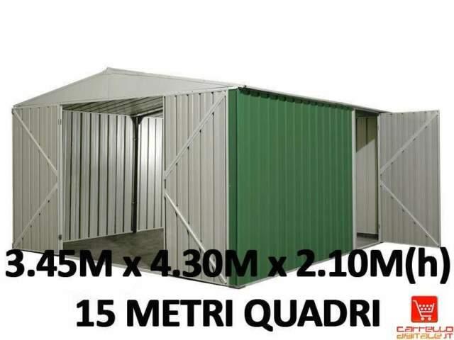 Container in lamiera zincata di 15 metri quadri VERDE