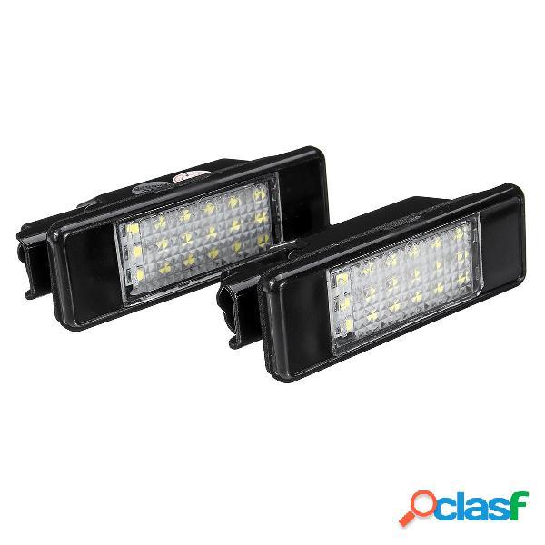 Coppia LED Licenza Piatto Luci 6340.A3 Per Peugeot 106 207