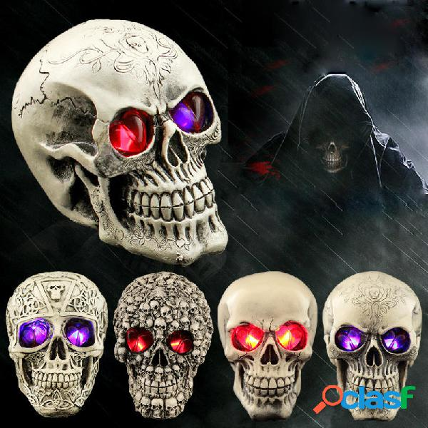 Cranio della resina umana di Halloween 743586 Luci notturne