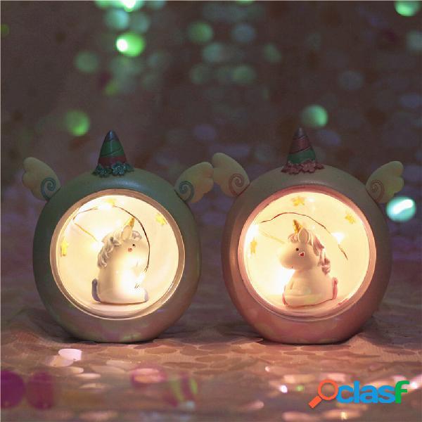 Creativo Carino Unicorn Night Lights Novità Decorazioni