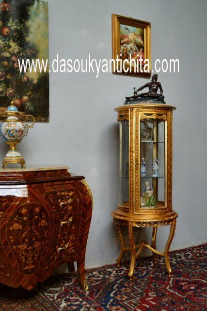 Cristalliera dorata a cilindro stile Luigi XV