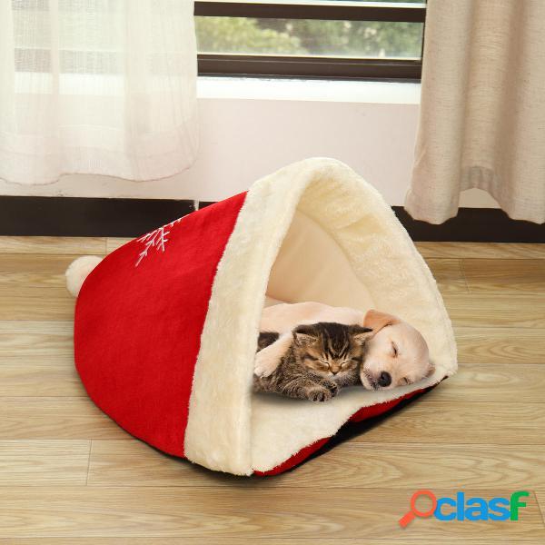 Cucciolo di Natale Pet Nest Bed Soft Warm Cave House