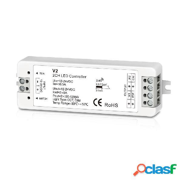 DC12-24V 2CH 10A WW / CW Dual Colour PWM Controller costante