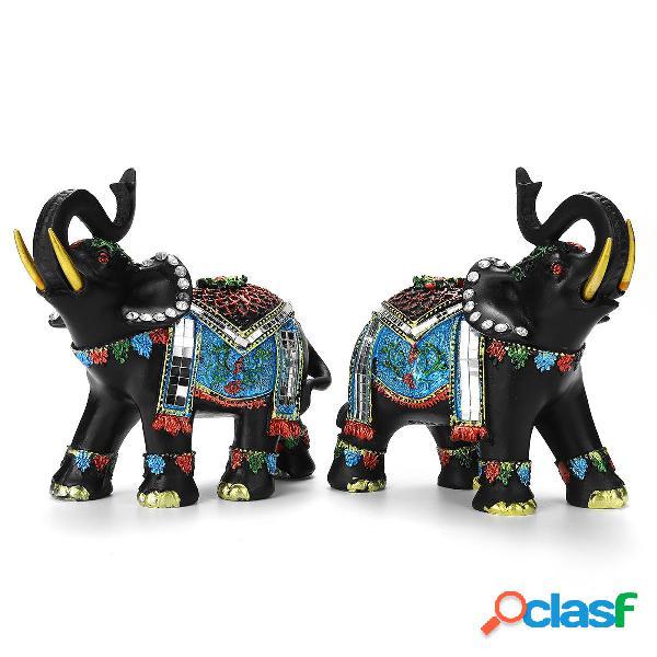 Decorazioni per la casa in resina di elefante Decorazioni