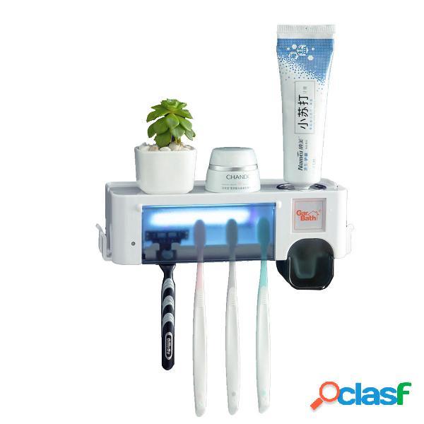 Dispenser di dentifricio per dentifricio con supporto per