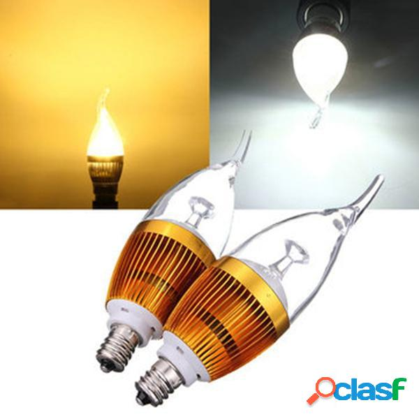 E12 3w AC85-265V bianco / bianco caldo dorato copertura LED
