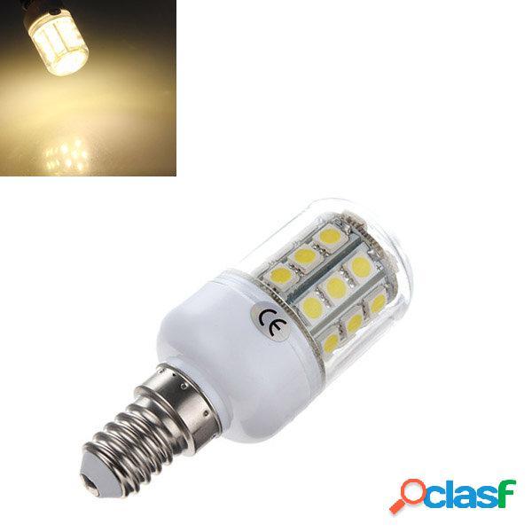 E14 5050 SMD 30 LED 3.2W bianco caldo lampadina 3500k mais