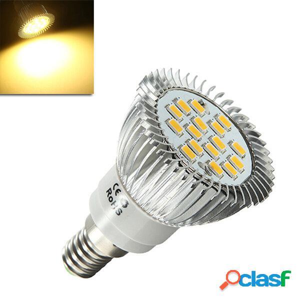 E14 6.5W 500-550LM bianco caldo 5630 SMD 16 LED Spot