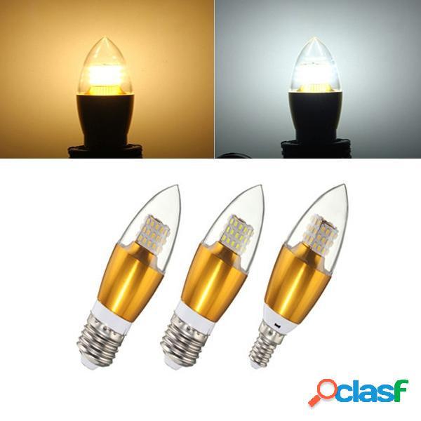 E14 e12 e27 SMD 7w 3014 LED vetro dorato bianco caldo