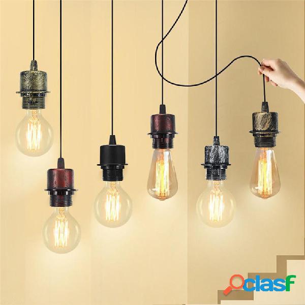 E27 Ciondolo a soffitto lampada Supporto presa di corrente