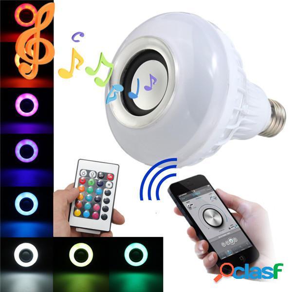 E27 LED RGB Lampadina con Casse Altoparlante Bluetooth